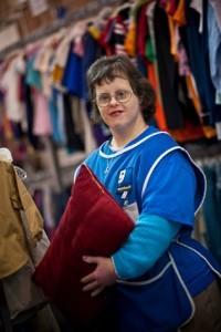 A disabled Goodwill Employee